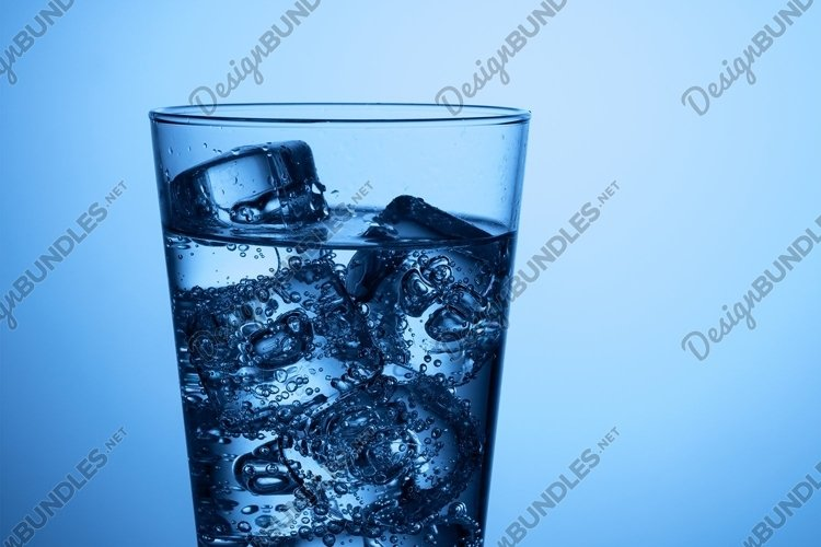 Isolated glass of water example image 1