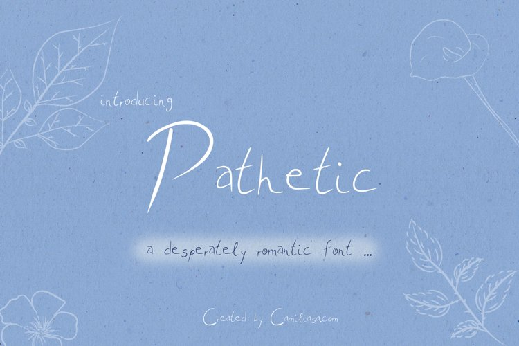Pathetic - A nice romantic handwritten script font ! example image 1