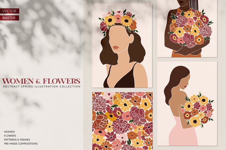 Abstract Spring - Women & Flowers