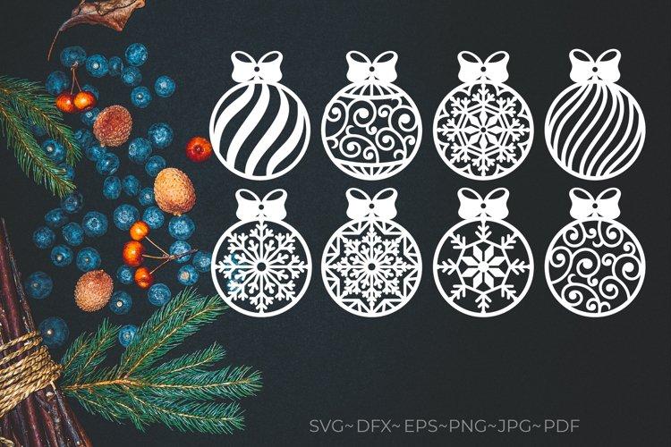 Christmas bauble svg. Christmas ball svg. Christmas bundle example image 1