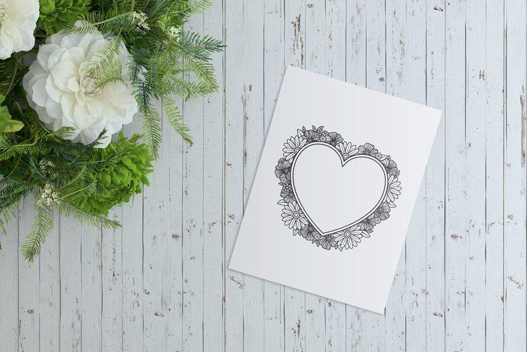 Heart SVG   Floral Frame SVG