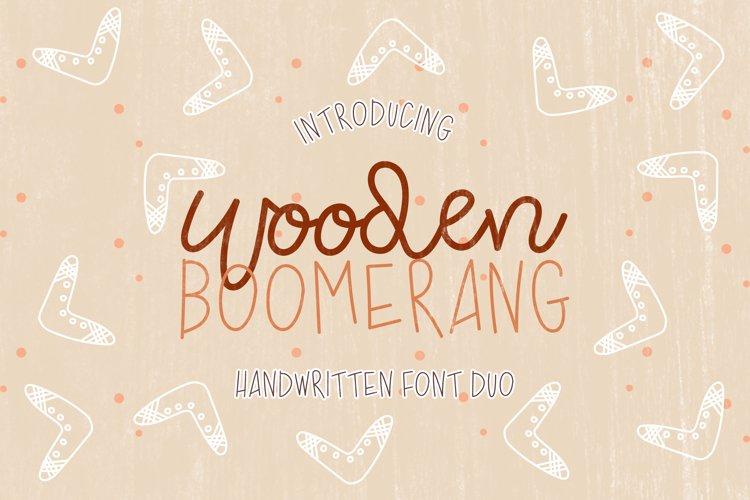 Wooden Boomerang - A Handwritten Font Duo example image 1