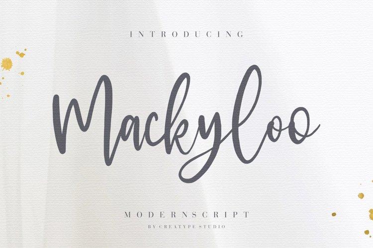 Mackyloo Modern Script example image 1