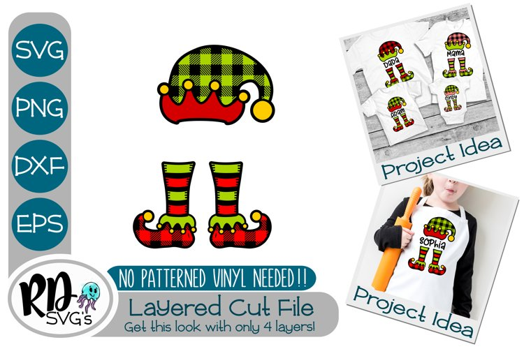 Plaid Christmas Elf - A Layered Cricut SVG