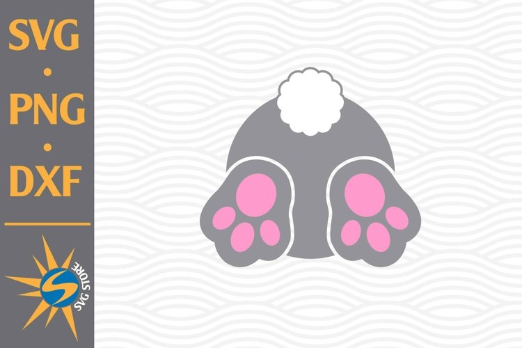 Bunny Bum SVG, PNG, DXF Digital Files Include