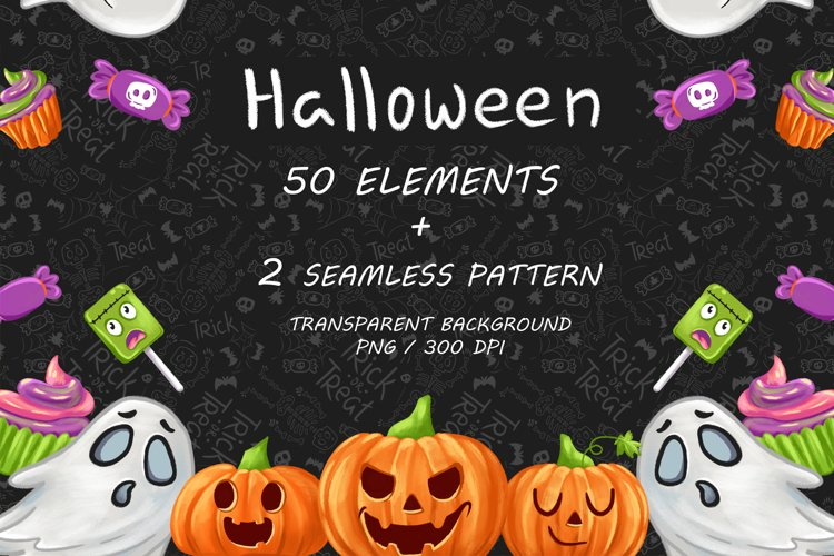 Halloween CLIPART, Fall clipart, Pumpkin clipart, PNG files example image 1