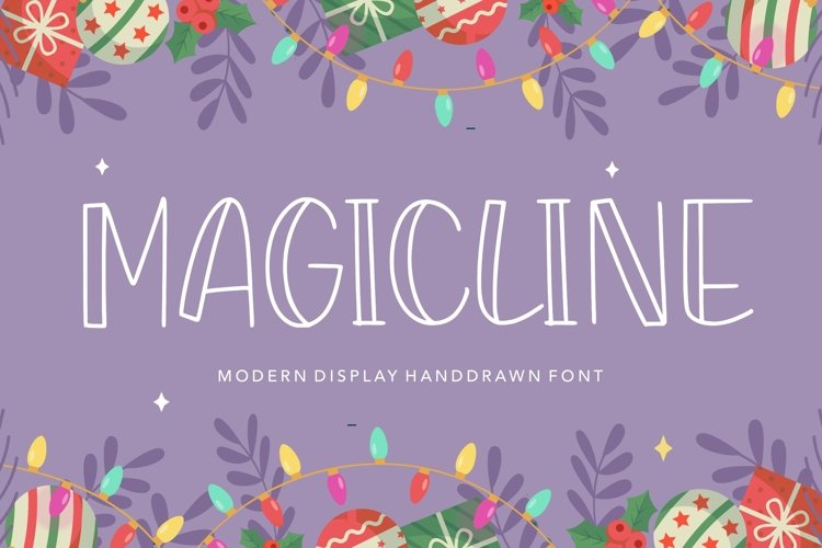 MAGICLINE Modern Display Handdrawn Font example image 1