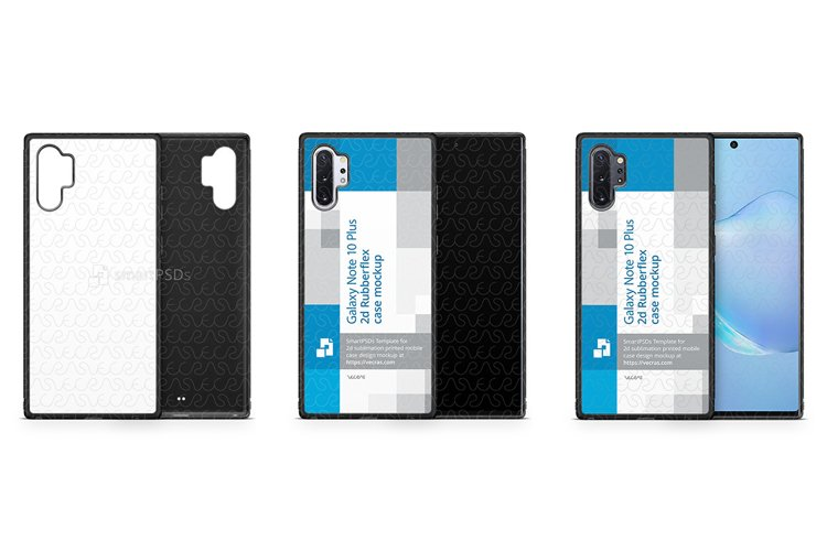 Galaxy Note 10 Plus 2019 2d Rubber Flex Case Design Mockup example image 1