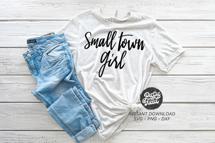 Small Town Girl SVG|PNG|DXF example image 1