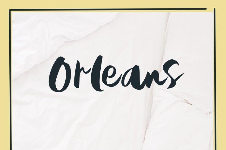Orleans Brush Font