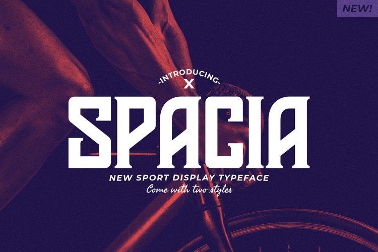 Spacia Display Typeface