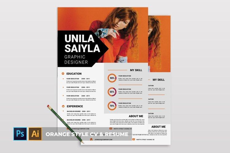 Orange Style   CV & Resume example image 1