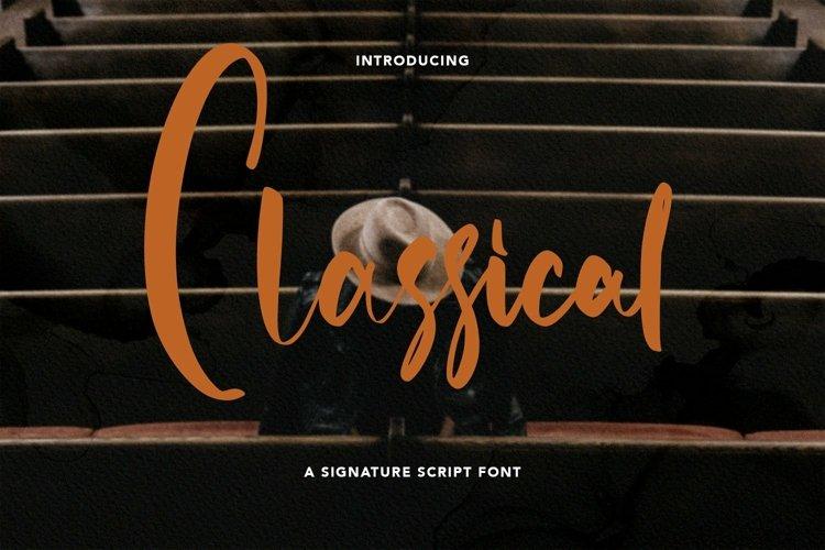 Web Font Classical - Signature Script Font example image 1