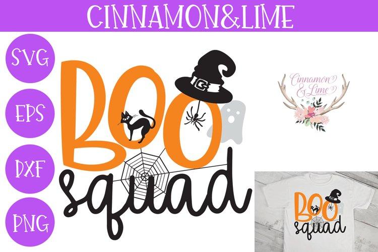 Boo Squad Kids Halloween SVG Cut File