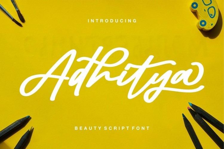 Web Font Adhitya - Beauty Script Font example image 1