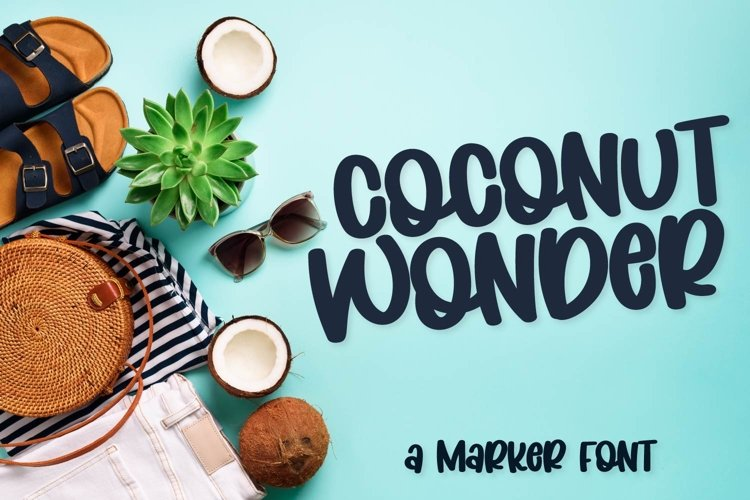 Coconut Wonder - A Simply Adorable Marker Font example image 1
