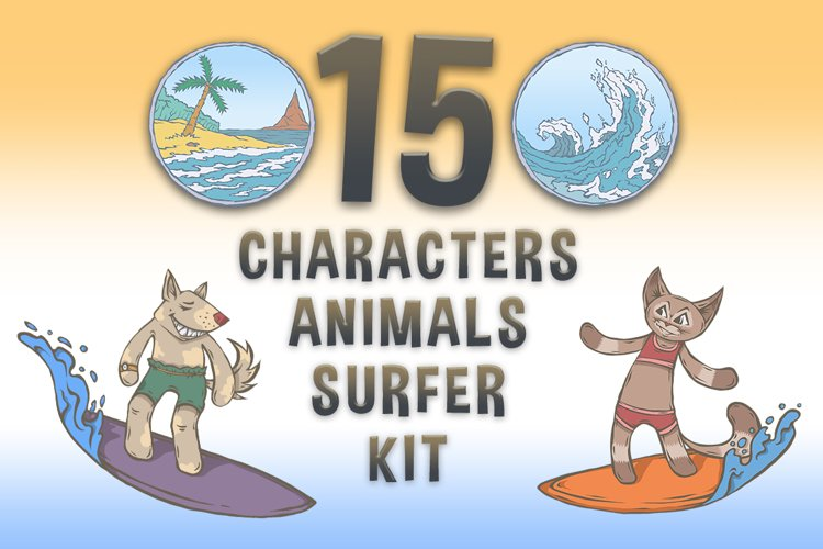CHARACTERS Animals Surfer Kit