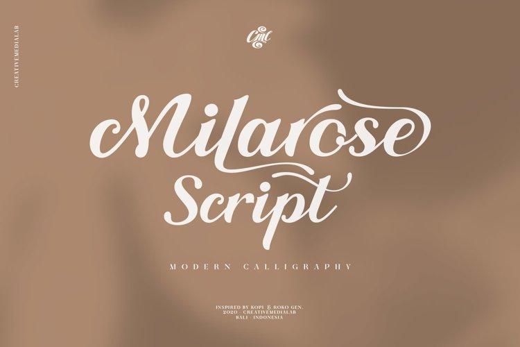 Milarose Script example image 1