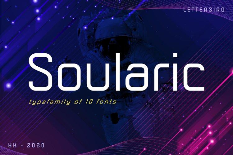 Soularic Futuristic Font Family example image 1
