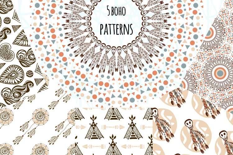 Boho Vector Patterns example image 1