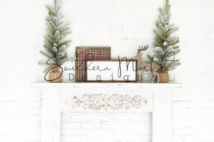 Christmas 8x18 Wood Sign Mock Up Styled Photography example image 1