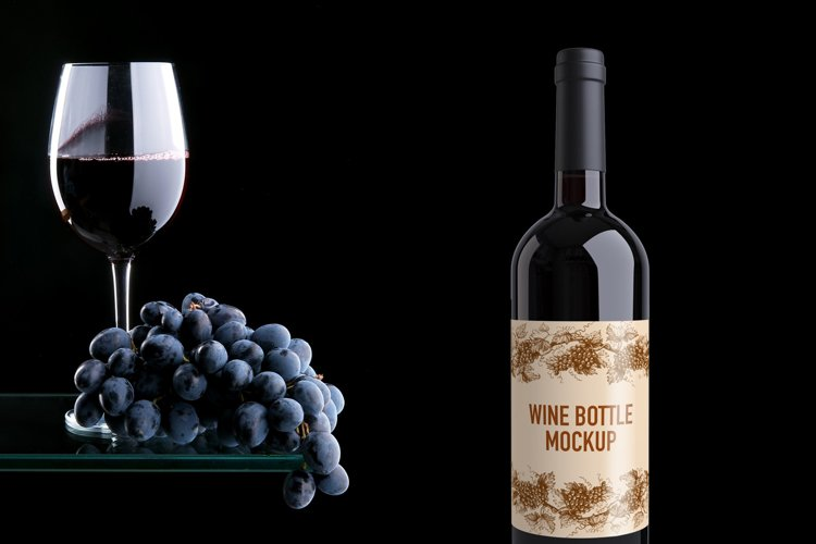 Wine Bottle Mockup example image 1