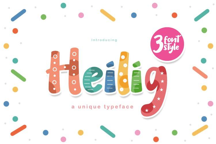 Heilig Display 3 Font example