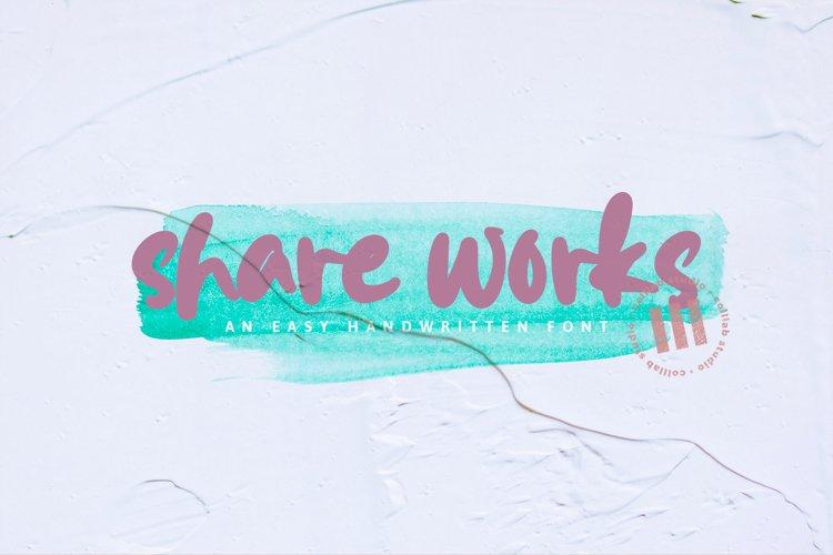 Shareworks - An Easy Handwritten Font example image 1