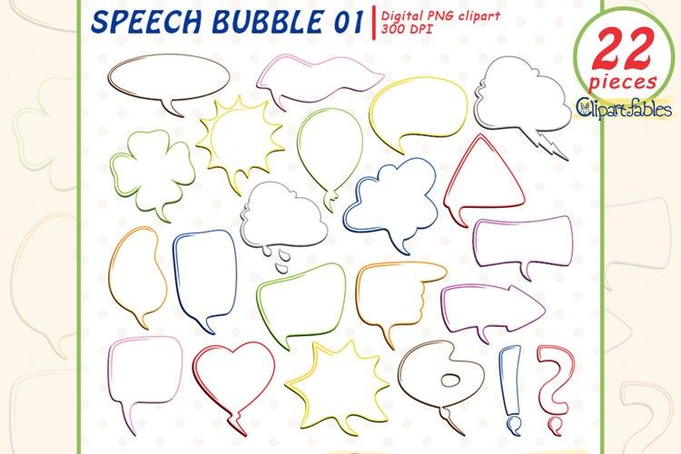 SPEECH BUBBLE clipart, Colorful text bubbles, Comic, Chat