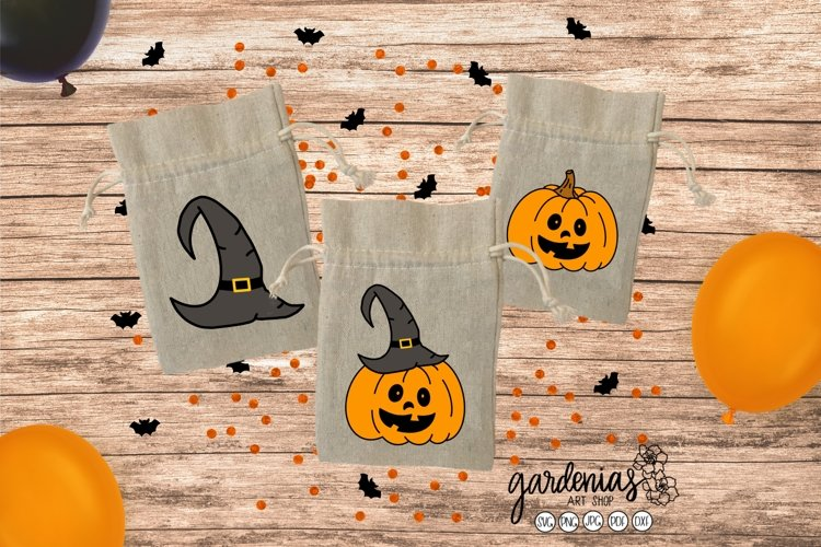 Carved Pumpkin SVG | Halloween Witch Hat | Clip Art PNG