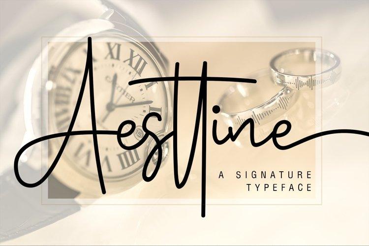 Web Font Aesttine example image 1