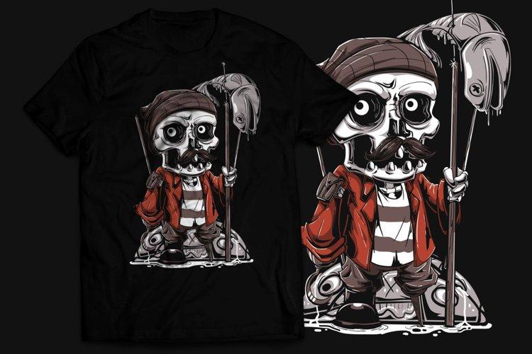 Fisher Bone T-Shirt Design example image 1