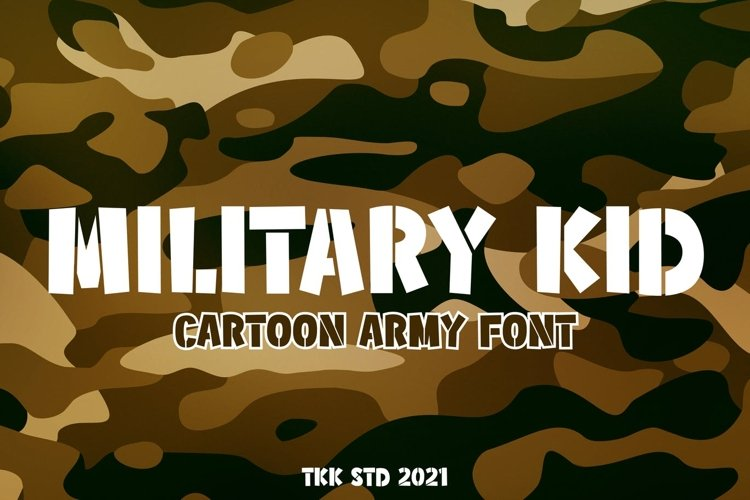 Military Kid - Stencil Army Kids Font example image 1