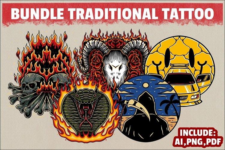 bundle traditional tattoo 2 example image 1