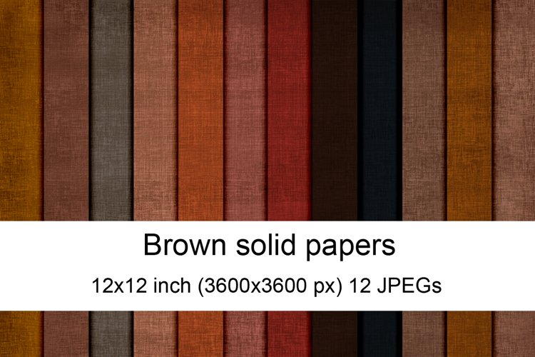 Brown solid digital papers