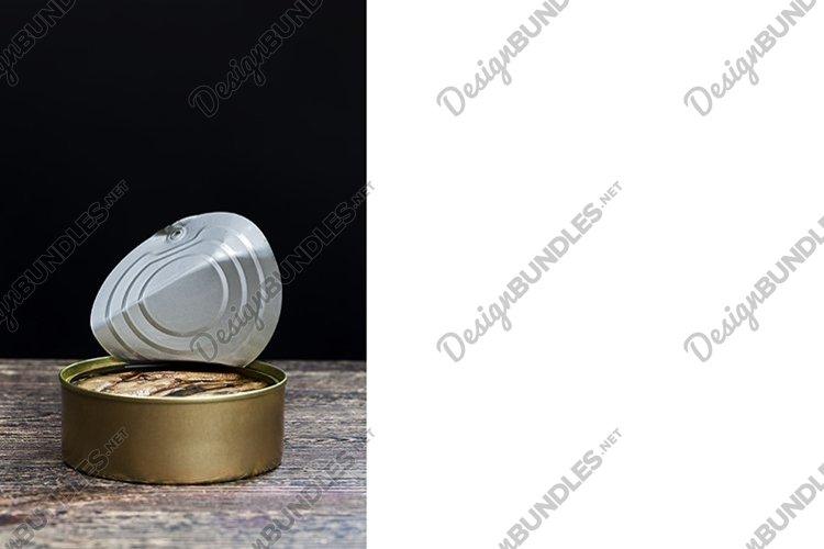 industrial open metal tin example image 1