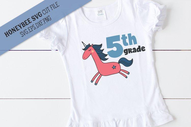 5th Grade Unicorn SVG Cut File