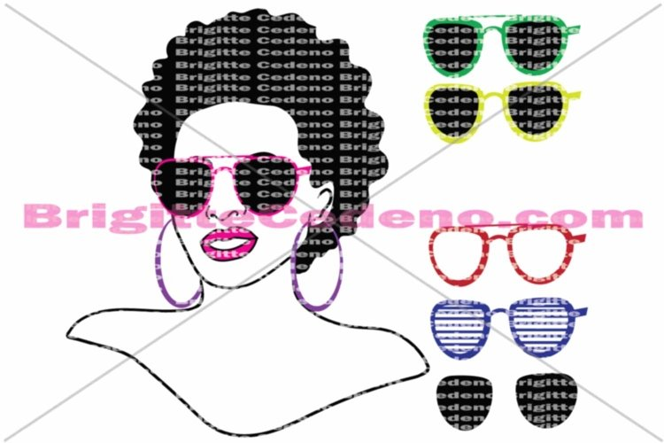 Rita rocking a small afroa she is a dxf, svg, png, jpeg file