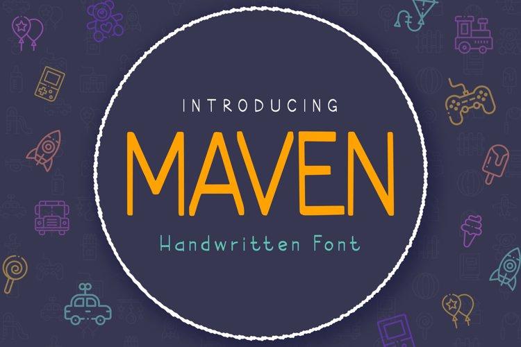 Maven Font example image 1