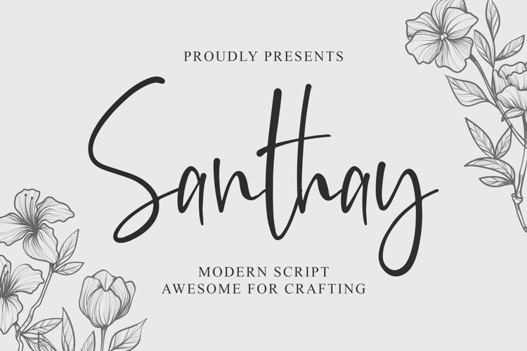 Santhay - Modern Script Font example image 1