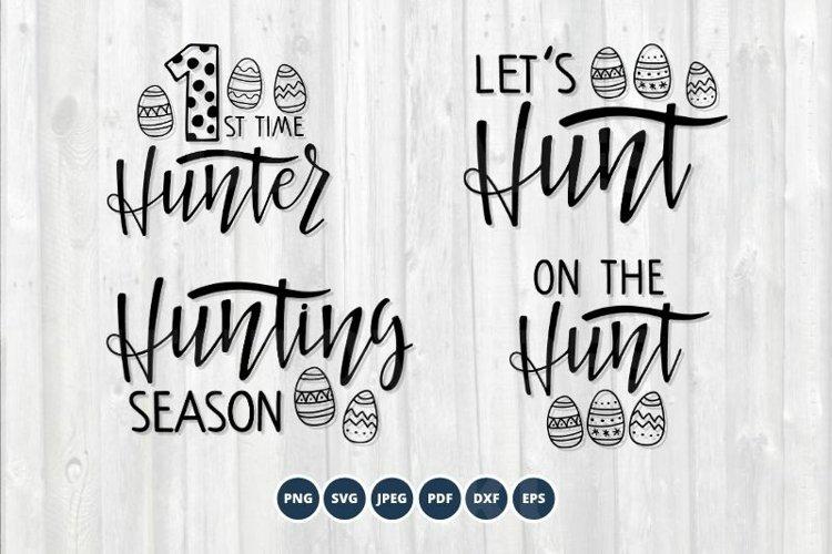 Easter SVG Bundle. Hunting Season SVG set. Easter egg SVG example image 1