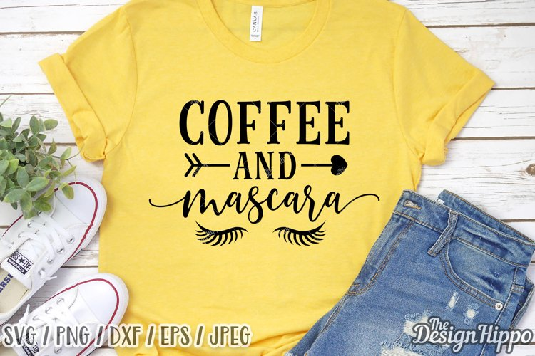 Coffee And Mascara SVG DXF PNG EPS Cricut Cut Files