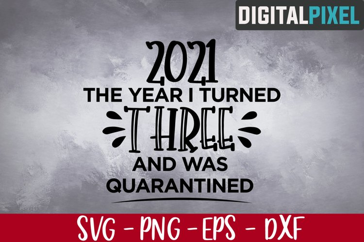 3rd Birthday Svg, The Year I Turned 3 and Was Quarantined example image 1