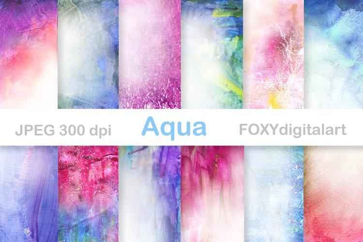 Watercolor Digital Paper Scrapbook Paint Brush Splatters example image 1