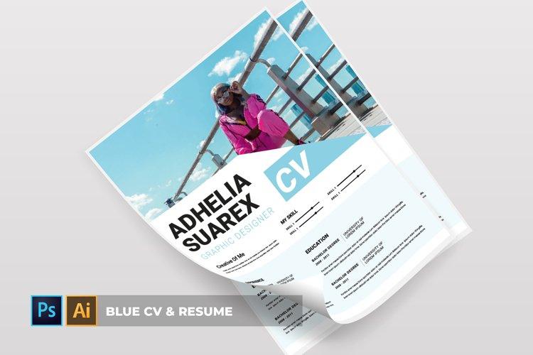 Blue | CV & Resume example image 1