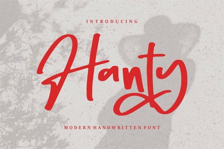 Web Font Hanty - Modern Handwritten Font example image 1
