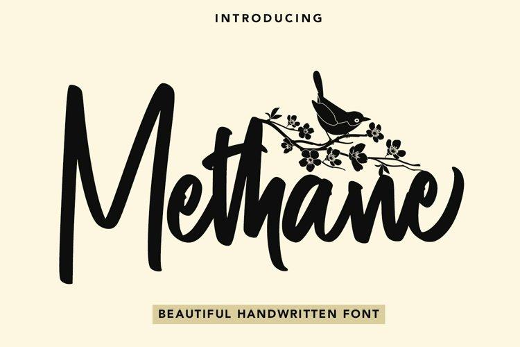 Web Font Methane - Beautiful Handwritten Font example image 1
