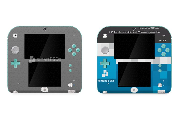 Nintendo 2DS Skin Decal Design Template 2013 example image 1