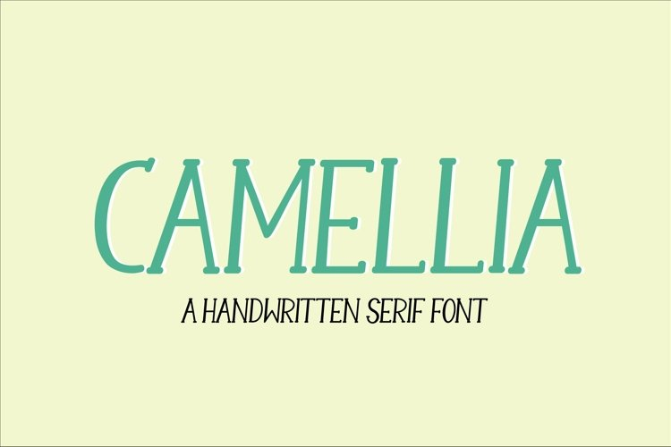 Web Font Camellia - a handwritten serif font example image 1