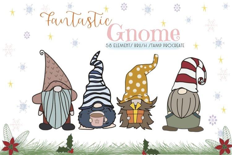 Fantastic Gnome 58 Element Brush Stamp Procreate. Brushes example image 1